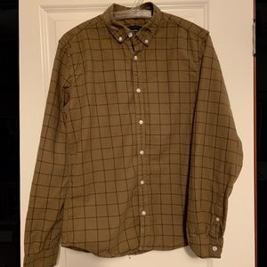 Reserved - Men's Brown Checkered Button Down